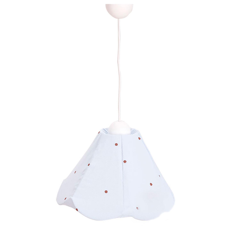 Lámpra decorativa Lucía Choco celeste