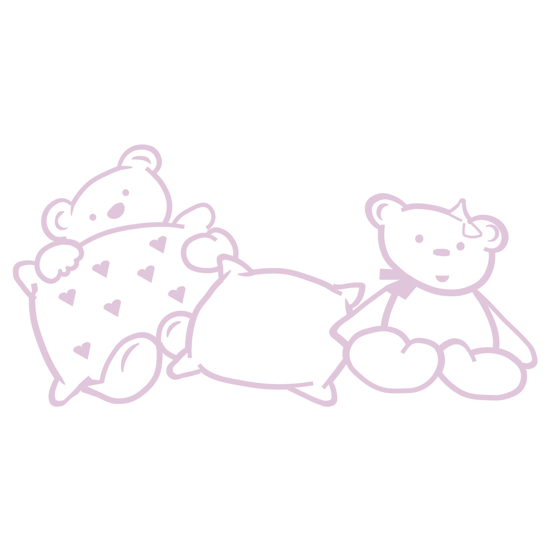 Vinilo decorativo Beba rosa