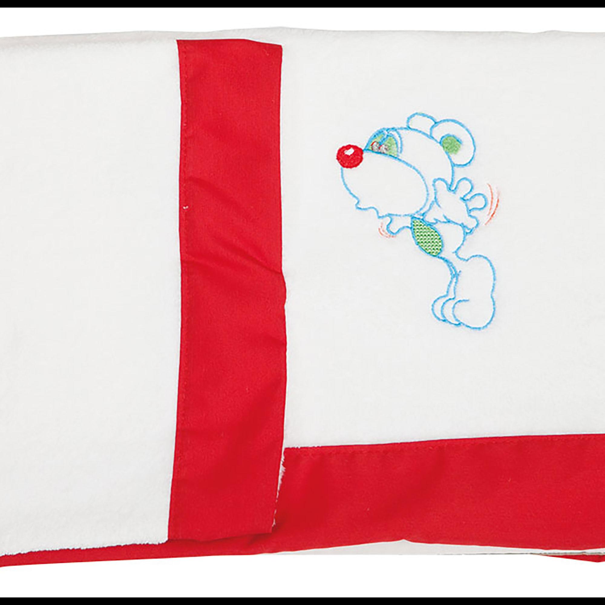 Juego de sábanas de cuna 60 x 120 Coralina Ratoncito rojo