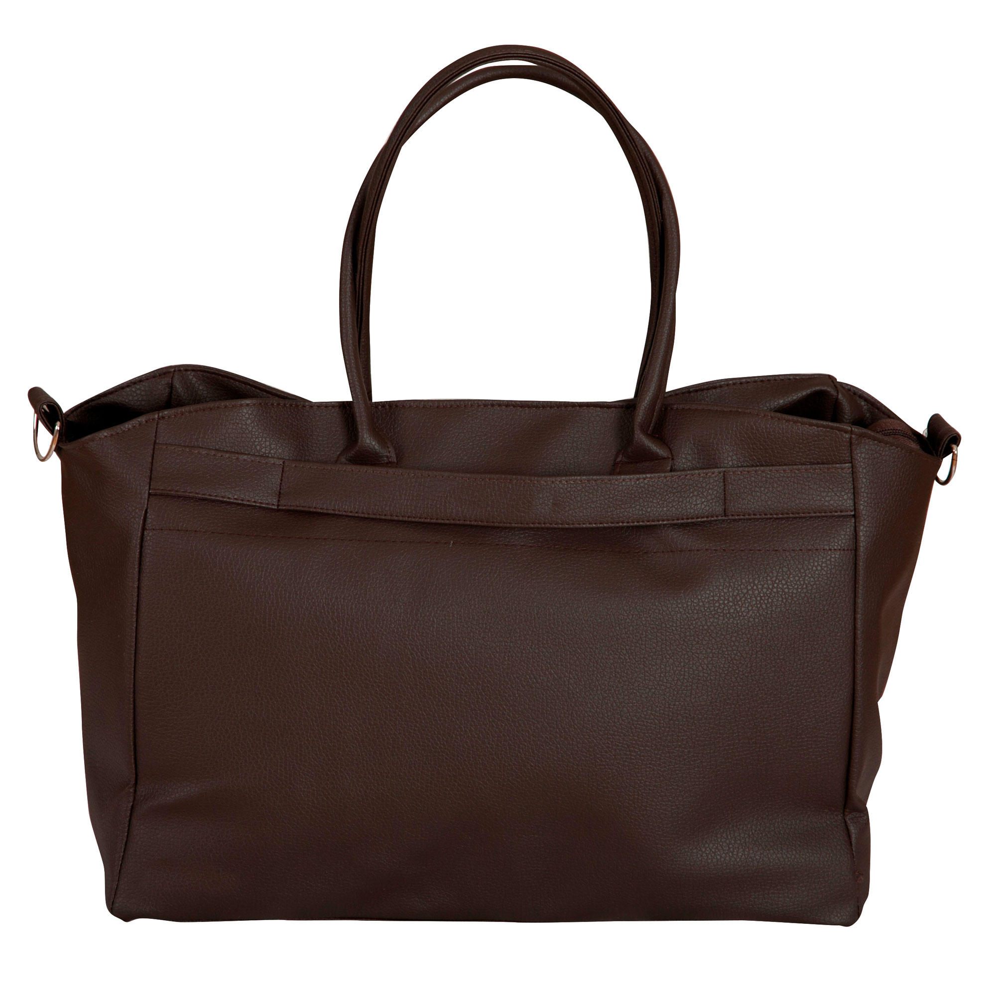 Bolso maternal de piel Chocolate