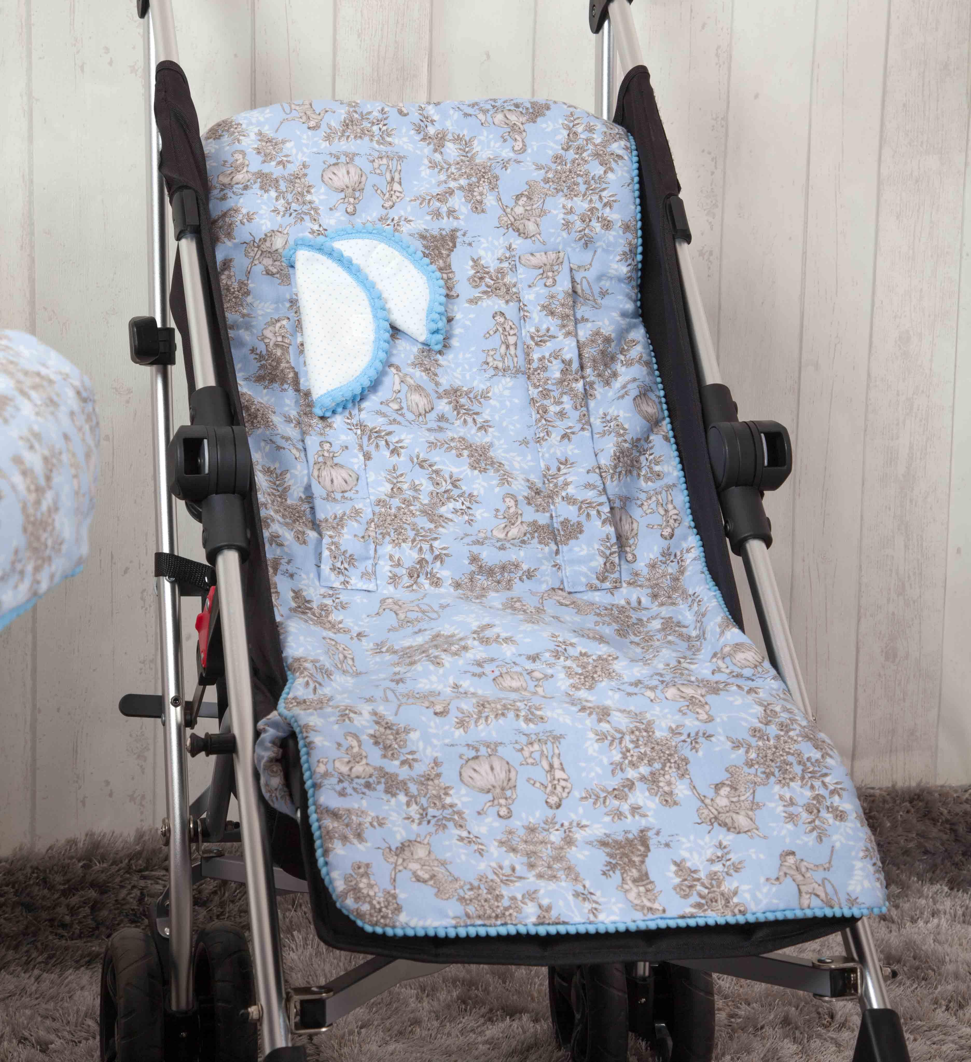 Colchoneta ligera reversible Paseos de Toile Azul