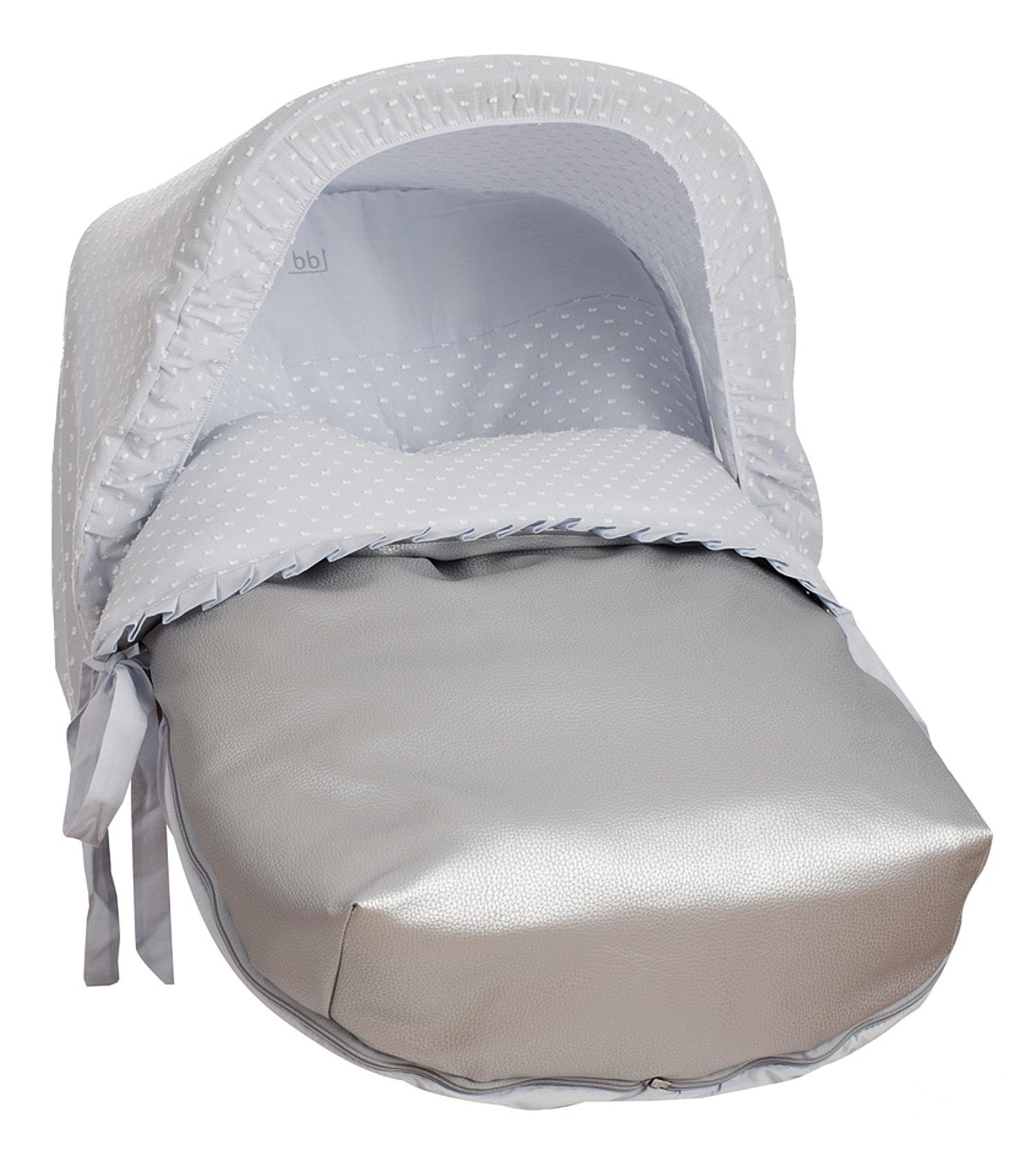 Saco Porta bebé Plumeti Gris (capota no incluida)