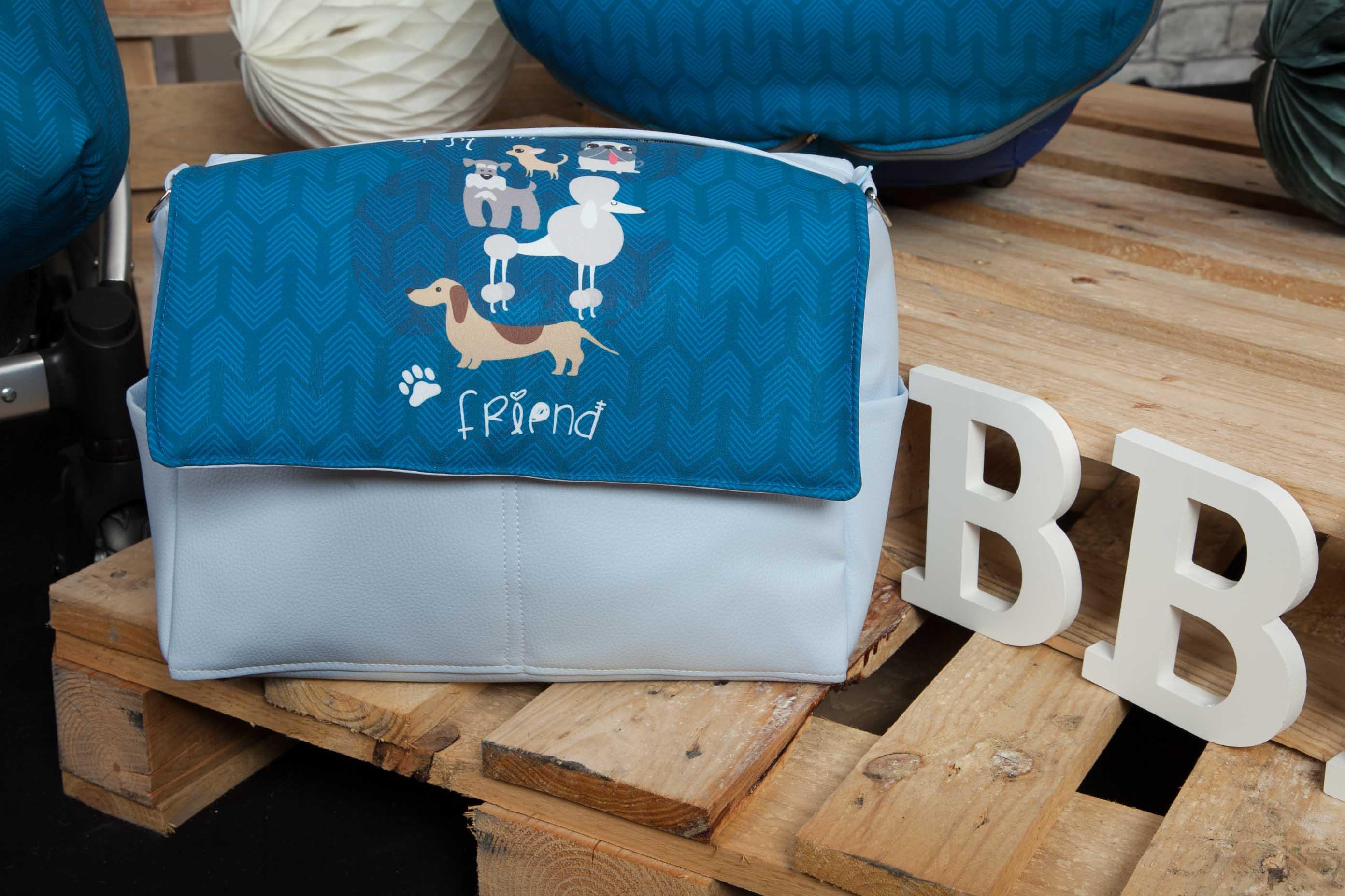 Bolso de Piel Dogs Azul